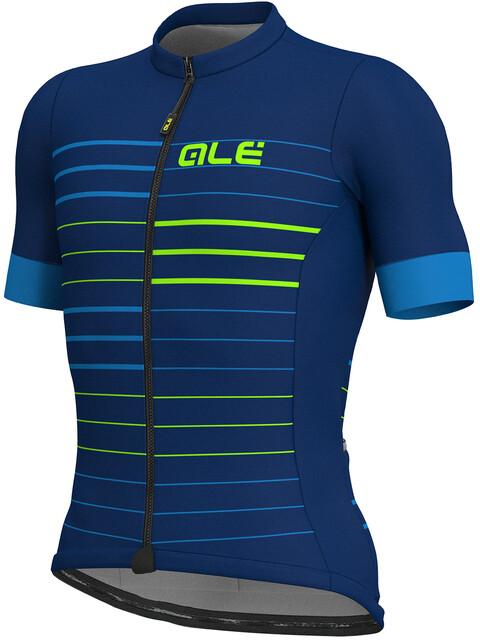 Alé Cycling Solid Ergo Kortærmet cykeltrøje Herrer blå